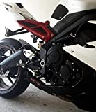 Coffman s Shorty exhaust for Triumph 675R Street Triple  2013 14  Sportbike with Black Tip