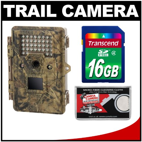 Coleman Chd500 Trail Cam Motion Sensor Digital Hd Video Camera With Infrared Night Vision With 16Gb Card Kit