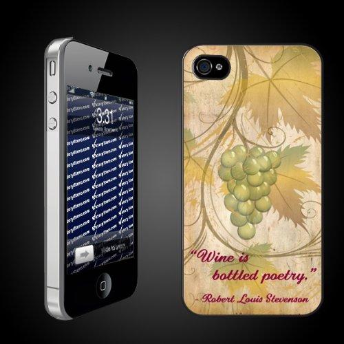 Wine is Bottled Poetry by Robert Louis Stevenson iPhone Hard Case