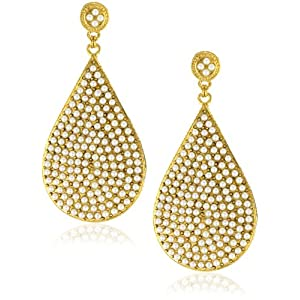 Click to buy Azaara Crystal Freshwater Pearl Teardrop Earrings from Amazon!