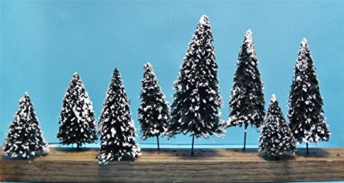 [^^ ^ 10 PC. ASSORTED SCALE MODEL SNOW COVERED DOUGLAS FIR TREES-4 SIZES] (Monster High Snow Girl Costume)