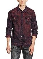 True Religion Camisa Hombre Jake (Rojo Oscuro)