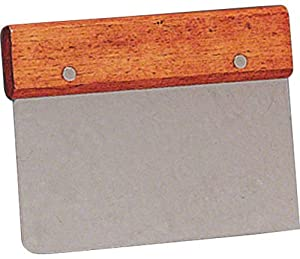 American Metalcraft DS6704 Stainless Steel Dough Scraper with Wood Handle, 4-1 2-Inch by American Metalcraft
