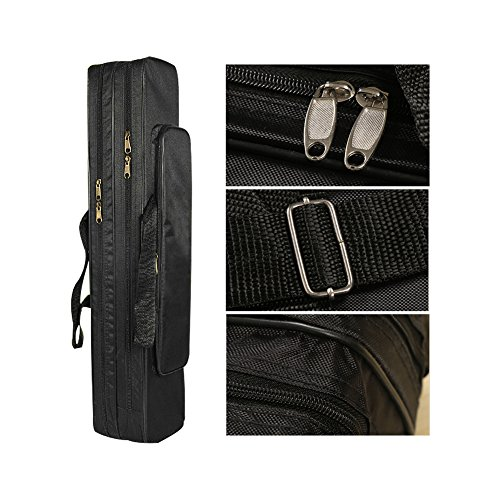 buy EiffelT Fishing tackle bag fishing Rod Case Suitcase pole holder 80 cm organizer (Black) for sale