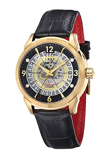 CCCP CP-7001-04 Silver Dial with Black Leather Strap Men's Analogue Watch with Date Window