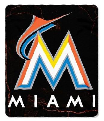 Miami Marlins 50x60 Fleece Blanket - Wicked Design (Please see item detail in description)