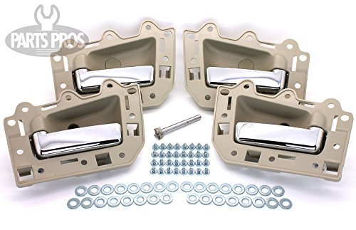 LatchWell PRO-4001700 Interior Door Handle Set With Install Kit in Light Beige & Chrome for Jeep Grand Cherokee (Jeep Door Pull Handles compare prices)