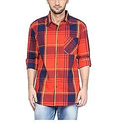 Yepme Men's Orange Cotton Shirts - YPMSHRT1136_38