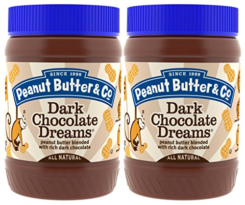 Peanut Butter & Co. Peanut Butter Dark Chocolate Dreams, 16 Ounce (Pack of 2)