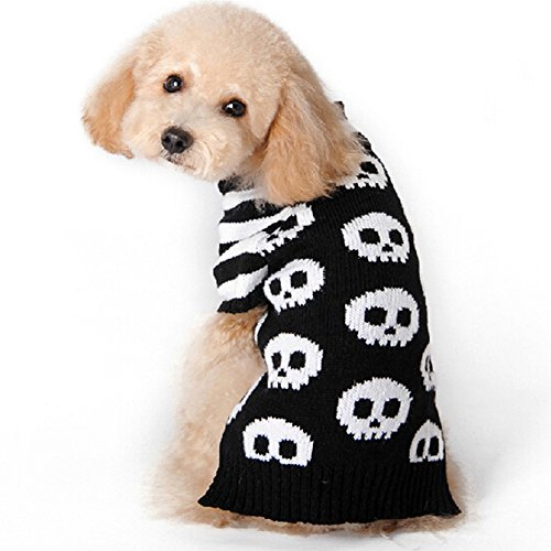 Bluecookies Dog Skull Sweater Pet Halloween Costumes S