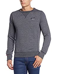 Superdry Men's Cotton Sweater (5054265982149_M20081XND1_S_Navy Grit)