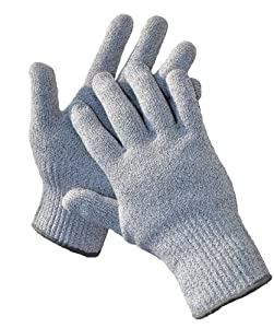 G & F CUTShield Classic Kitchen Cut & Slash Resistant Gloves, Food Contact Safe, Grey, Size Medium