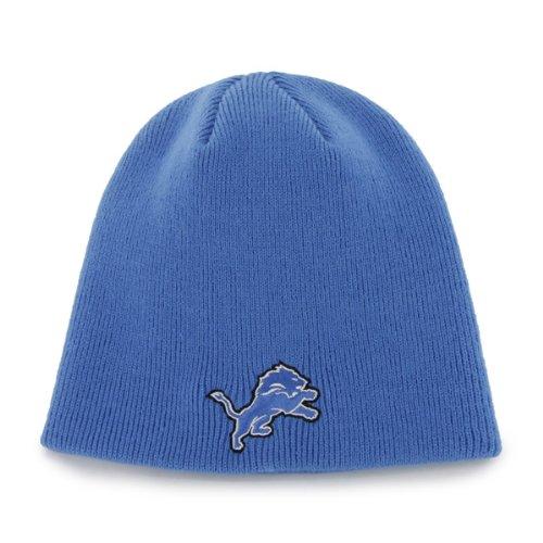 Nfl Detroit Lions Men'S Beanie Knit Cap, One Size, Blue Razz