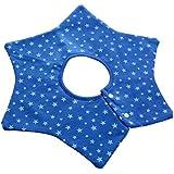 Infant Baby Kids Bibs Round Flower Head Scarf Bandana Feeding Saliva Towel - Dark Blue