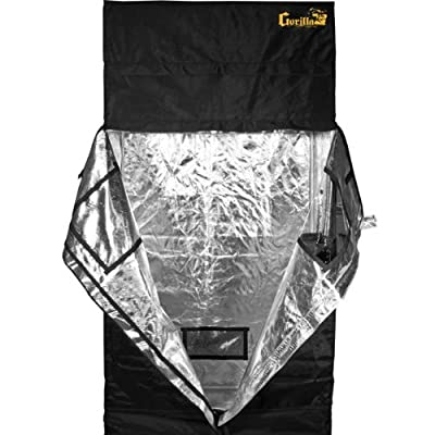 Gorilla Grow Tent GGT24 Tent, 2 by 4 by 6-Feet/11-Inch, Black