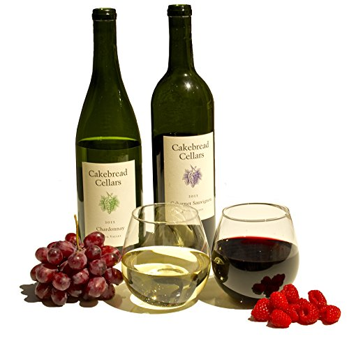 Stemless Wine Glass Set, 4-Pack, 15