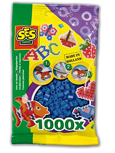SES Creative Iron On Beads, Navy Blue, 1000-Pack - 1