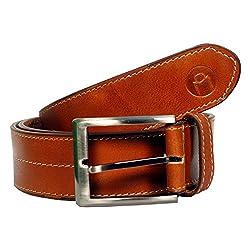 MOSPL Men's Leather Belt (OMBT3013_Brown_34)