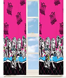 Monster High Room Darkening Window Curtain Panel Drape from Monster High