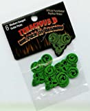 Tenacious D Green Functional Pick 6 Pcs Medium