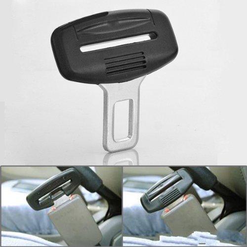 1pc Black ABS Billet Steel Hassle-free Universal Car Safety Insert Plug Seat Belt Clasp Buckle Alarm Canceller Stopper Eliminator For SUV Vans Trucks