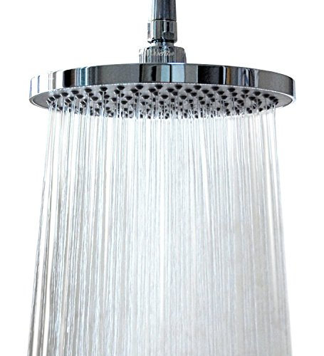 WantBa-8-Inches-157-Jets-Rainfall-Shower-Head-with-Showerhead-Swivel-Metal-Ball-Connector-Polished-Chrome