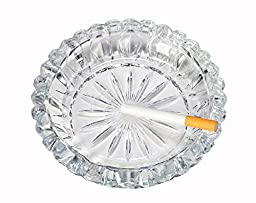 Luminarc \'Round O\'clock\' 6.5 Oz Classic Cigarette or Cigare Ashtray with Fluted Bottom (6.5)