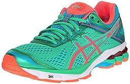 ASICS Women\'s GT-1000 4 Running Shoe, Spring Bud/Flash Coral/Scuba Blue, 5.5 M US