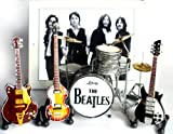 The Beatles Fab Four Miniature Guitar and Drums Set of 4 Super Mini