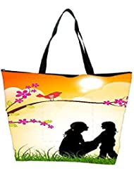 Snoogg Mothers Day Background Waterproof Bag Made Of High Strength Nylon