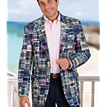Patchwork Madras 2-Button Sportcoat
