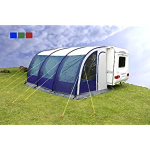 Pyramids Blue Majestic 390 Caravan Lightweight Porch Awning With
