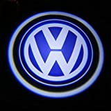 2PCS (1 Pair) x 5th Golden Newest 2 x car door Shadow laser projector logo LED light for Volkswagen VW Golf Polo Passat Beetle Jetta CC Scirocco Tiguan Touran Touareg Eos Phaeton GTI