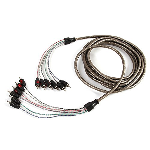 Belva 5 meters 6-Channel GRAY Car Audio RCA Interconnect Cables - 16.40 feet [BBI65]