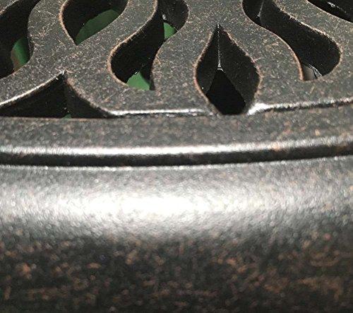 Patio End Table 21 Square Cast Aluminum Outdoor Furniture Desert Bronze