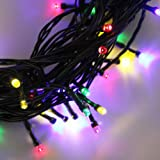 InnooTech Solar Patio String Lights Fairy 200 RGB Led Outdoor Christmas Tree Light for Decorations