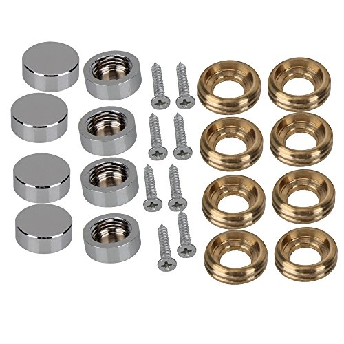 Decorative Home Dector Wardrobes Furniture Fittings Silver Table Mirror Screw Cap Nails Advertising 14mm Pack of 8