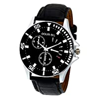 Golden Bell Original Chronograph Analogue Black Dial Wrist Watch for Men
