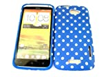 Designer Blue Dots Shabby Chic Vintage Htc One X Tpu soft gel case/cover