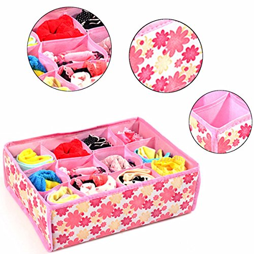 12 Cells Socks Underwear Drawer Closet Home Organizer Storage Box Case (Glow In The Dark Zip Ties compare prices)