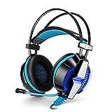 (アップグレード版 )KOTION EACH GS700 (プレイステーション4) 専用 音量調節可能 超高音質 PC/PS4/パソコン/タブレット/iphone/スマホ対応 (ブラック+ブルー)
