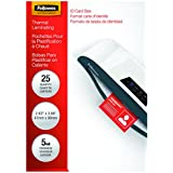 Fellowes Laminating Pouches, Thermal, ID Tag Punched, 5 Mil, 100 Pack (52016)