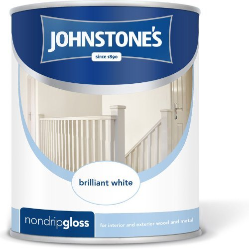 Johnstones No Ordinary Paint One Coat Non Drip Oil Based Gloss Brilliant White 2.5 Litre