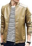 【four clover】メンズ アウター ジャケット PUレザージャケット ブルゾン トップス 秋 冬 カジュアル オシャレ カッコいい エコバッグ付き