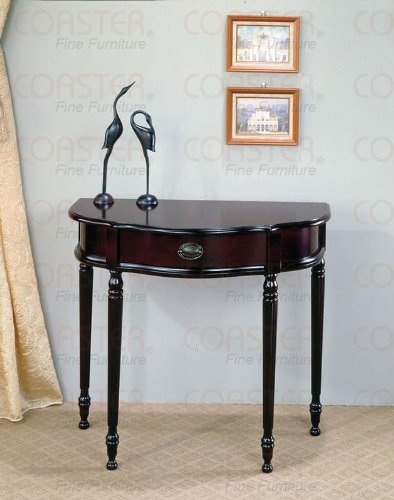 Coaster Traditional Entry Way Console Table/Hall Table, Cherry Finish front-956249