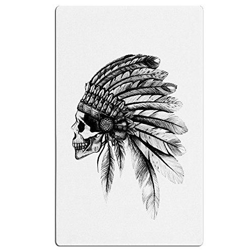 Artistic Indian Skull Head Black Feather Swimming Beach Towel