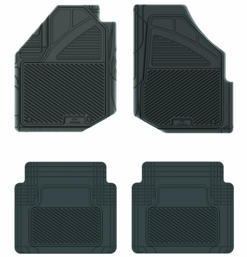 Koolatron Pants Saver Custom Fit 4 Piece All Weather Car Mat for Select Honda Fit Models (Black)
