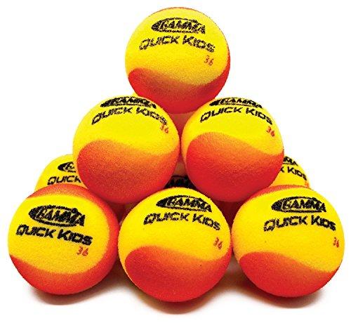 Gamma Sports Foam Training Tennis Balls - Quick Kids 36 - Revolution - Foam