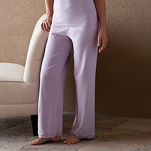Women Organic Cotton Pajama Pants (Black, Lavender, Natural)