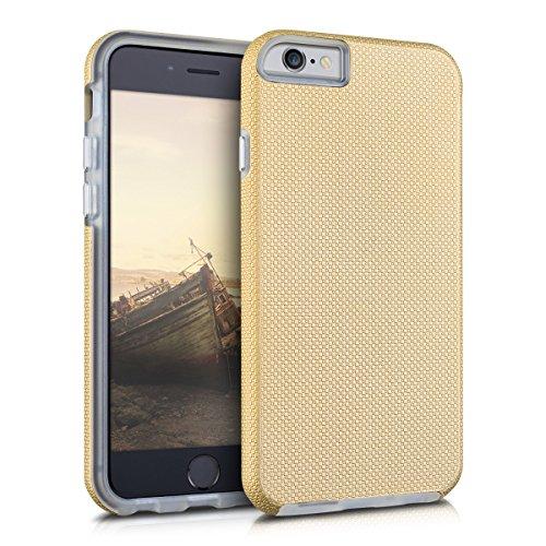 kalibri-Armor-Hlle-fr-Apple-iPhone-6-6S-TPU-Silikon-und-Kunststoff-Case-in-Champagner